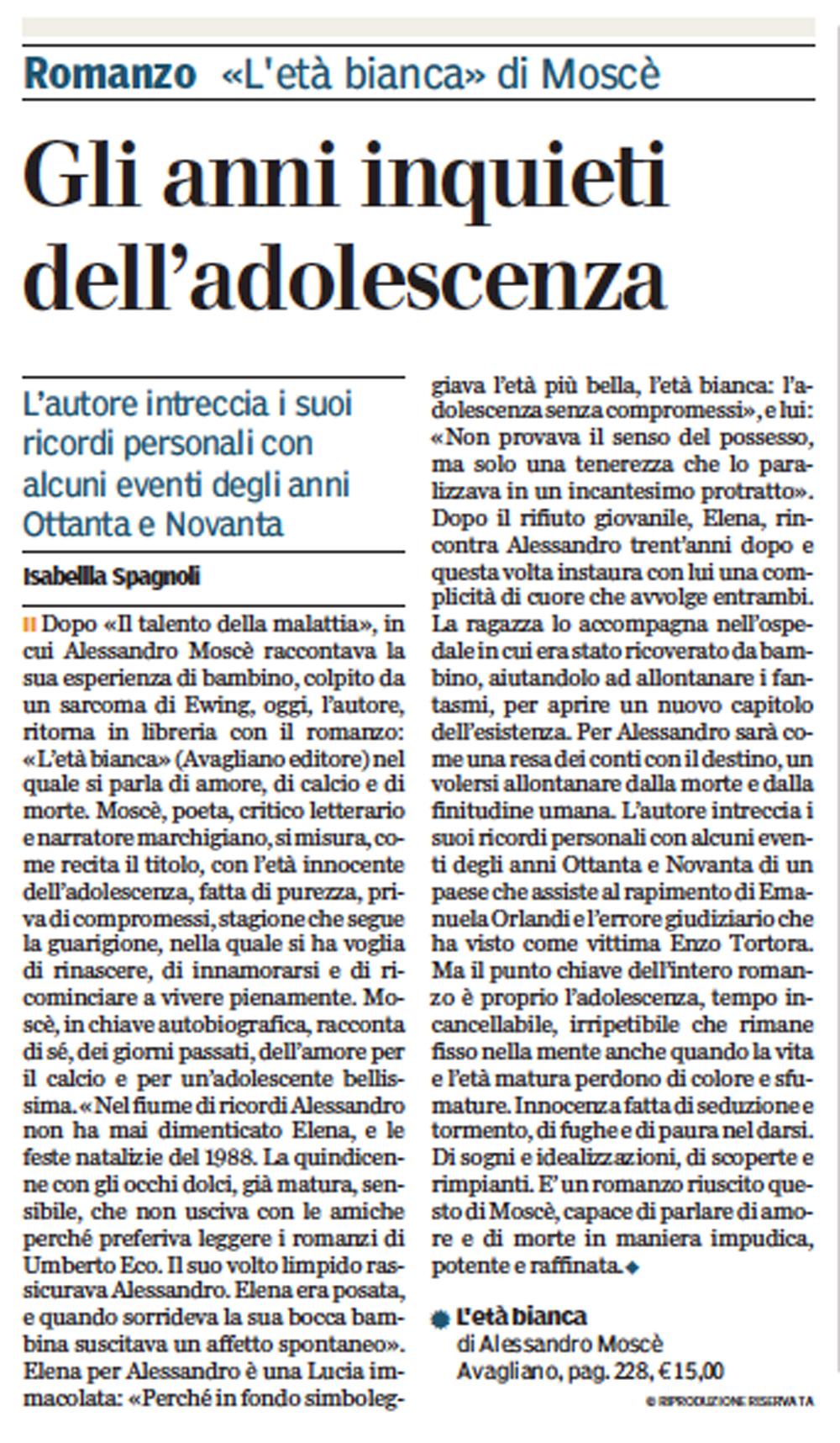 """ISABELLA SPAGNOLI SU """"LA GAZZETTA DI PARMA"""", 14 AGOSTO 2016"""