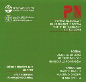 """PREMIO """"CITTA' DI FABRIANO"""": IL 7 DICEMBRE LA XIII EDIZIONE"""